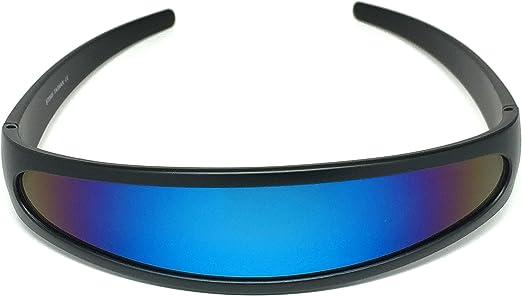 Futuristic Cyclops Shield Cosplay Mirrored Lens Visor Sunglasses WebDeals