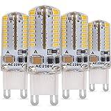 Albrillo LED 3W G9 Sustituido Bombillas Halógenas ,64*3014 SMD Blanco Cálido 3000 Kelvin, 190 Lumen, 4 pack