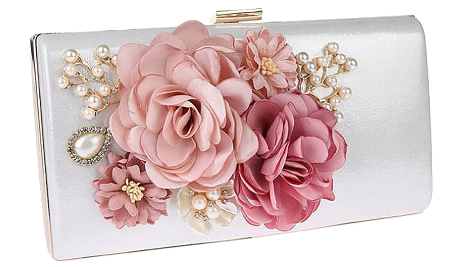 1e92674d4fdde EPLAZA Women Large Capacity Flora Evening Party Bags Clutch Purse ...