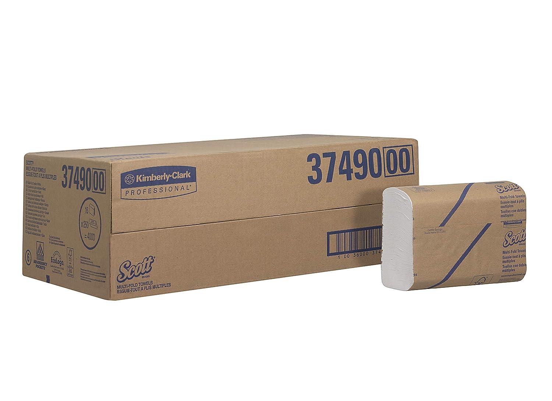 SCOTT* Toallas Secamanos Multifold 3749 - 16 paquetes x 250 toallas de color blanco y 1 capa: Amazon.es: Industria, empresas y ciencia