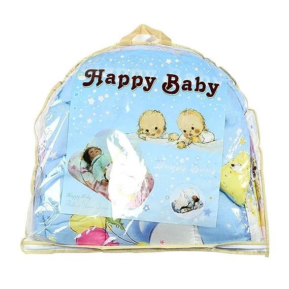 Plegable Nuevo Bebé de Algodón Acolchado Colchón Infantil Almohada Cama Mosquitera Tienda de campaña Soporte Niños Cama de Bebé Accesorios Hung Dome piso: ...