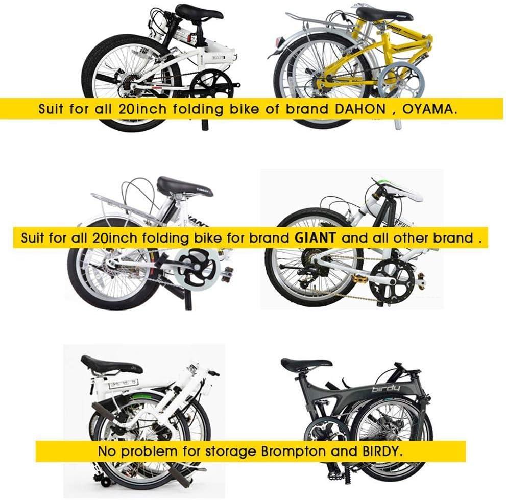 Selighting Sac de Transport V/élo le Sac de Selle pour la Bicyclette Pliable de 14-20 pouces Pour Cyclisme Vtt Voyage Randonn/ée M/étro