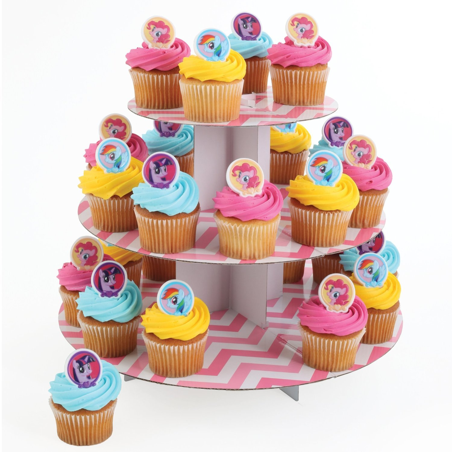my little pony cupcake rings 24 ct kitchen dining