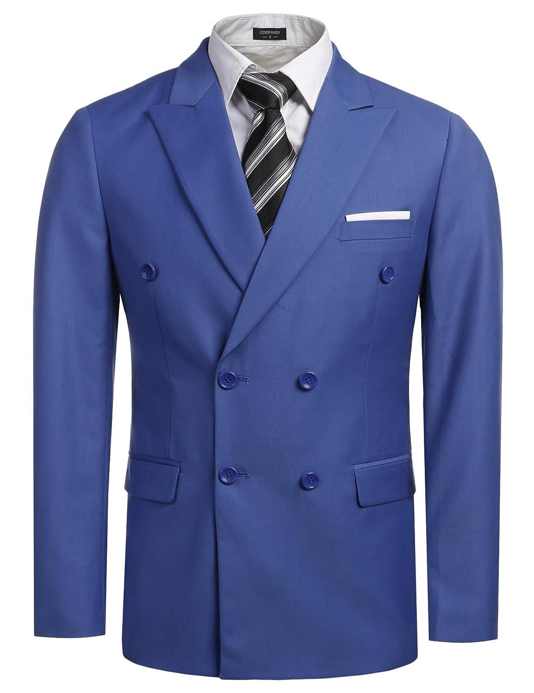 ZEARO Mens Blazer Jacket Slim Fit Suits for Men Suit Jacket Blazers Business Double-Breasted