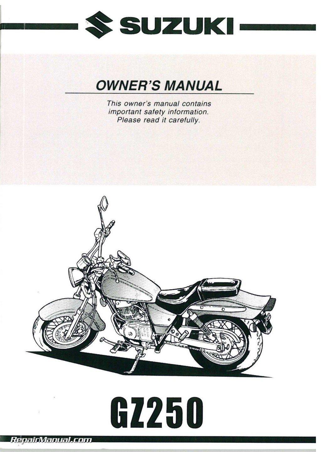 99011-13F51-03A 1999 - 2000 Suzuki GZ250 Marauder Motorcycle Owners Manual:  Manufacturer: Amazon.com: Books