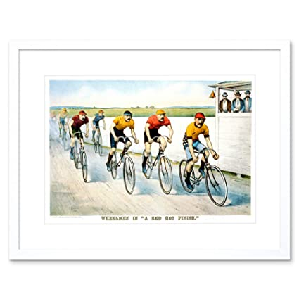 Amazon.com: SPORT MEMORABILIA CYCLING BICYCLE RACING AD FRAME ART ...