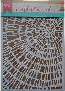 Small plastico Crear Tarjetas y Otras Manualidades con Papel Espuma para Scrapbooking Marianne Design Plantilla de M/áscara Blanco