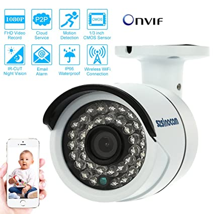 KKmoon Videocámara de Vigilancia Cloud Wireless HD 2,0 MP 1080P Wifi CCTV IP cámara