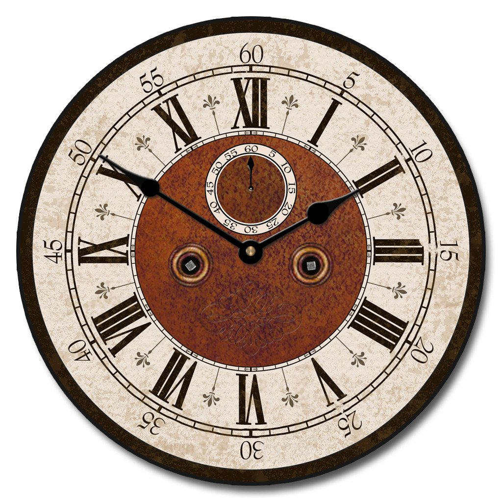 L'Victoria Hotel Wall Clock, Available in 8 sizes, Most Sizes Ship 2 - 3 days, Whisper Quiet.