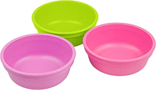 product image for Re-Play Made in USA 3pk 12 oz. Bowls in Bright Pink, Purple and Lime Green | Made from Eco Friendly Heavyweight Recycled Milk Jugs and Polypropylene - Virtually Indestructible (Butterfly)