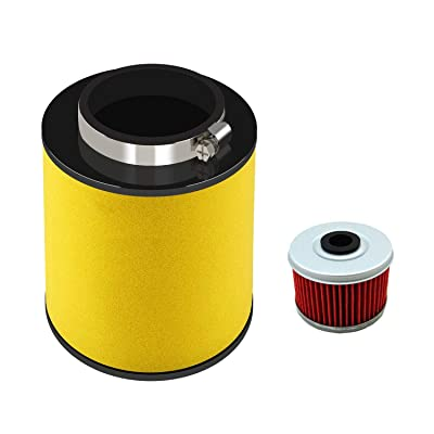17254-HP5-600 Air Filter for Honda Rancher TRX420, TRX420FA, TRX420FE, TRX420FM, TRX420TE, 2007-2014 with Oil Filter Replacement ATV Element Air Filter: Automotive