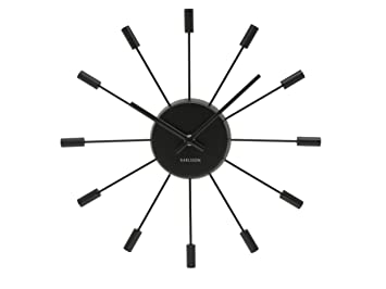 Karlsson Wall Clock Spider With Cylinder, Stainless Steel, Black Idea