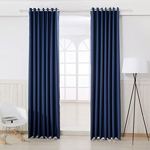 NEW ARRIVAL- MLYEEA Sun Blockers Thermal Insulated Blackout Grommets Window Curtains ,Two Panels,Perfect fit for living room,bedroom 57.08 Wx96.06 L for each panel, Royal Blue