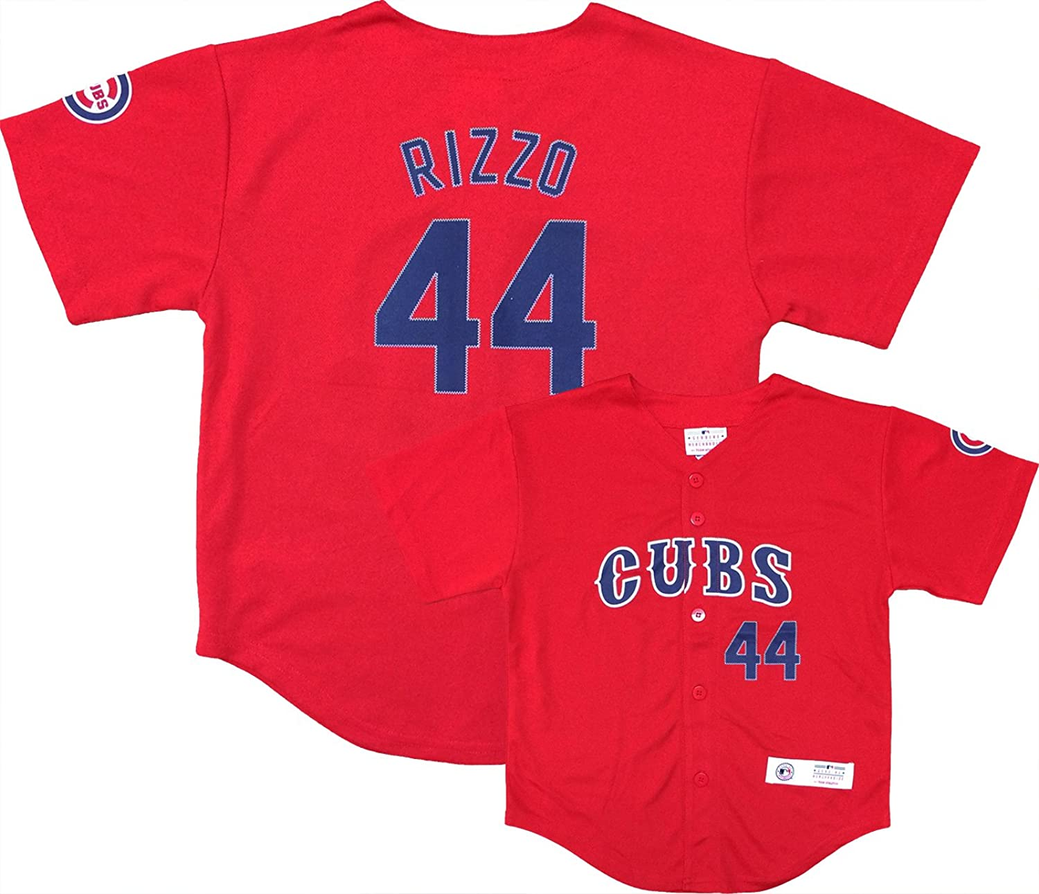 best quality e923e 257ae Anthony Rizzo Chicago Cubs #44 Red Youth Player Fashion ...