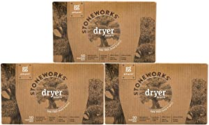 Grab Green Stoneworks Dryer Sheets, Naturally-Derived & Compostable, Free of Wax & Animal-Derived Ingredients, Oak Tree, 50 Sheets, 3-Pack