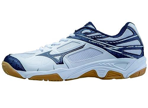 Mizuno -Zapatilla Lightning Star Z Jr White-Blue Talla - 34.5: Amazon.es: Zapatos y complementos