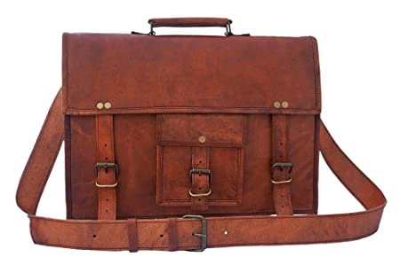 Rustictown Genuine Leather Laptop Bag 15 Prime Day Sale One Size Brown d68e8d31b98bb