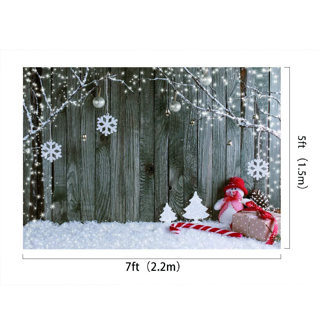 Amazon com : Christmas Photo Booth Backdrop Brown Wooden