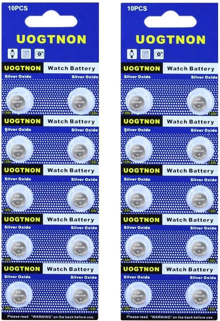 379 SR521SW V379 Watch Battery 1.5V Button Cell (20-Pack)
