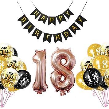 18 Deco cumpleaños Conjunto de decoración de cumpleaños ...