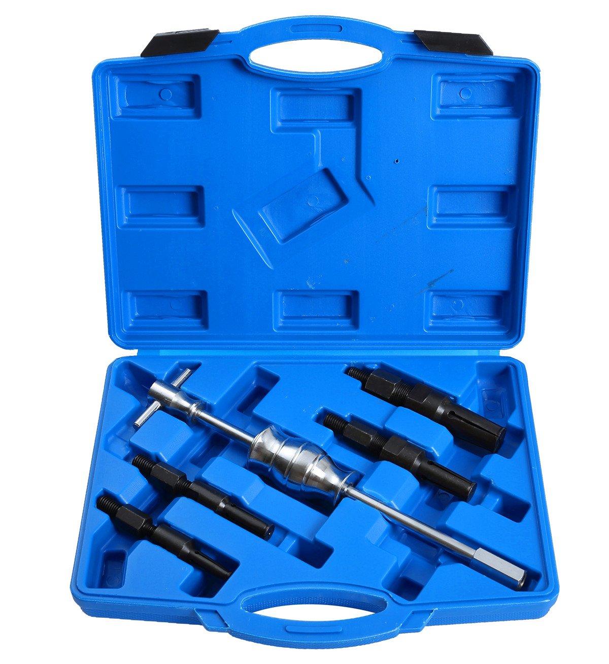 DASBET 5pcs Blind Inner Internal Bearing Puller Slide Hammer Set