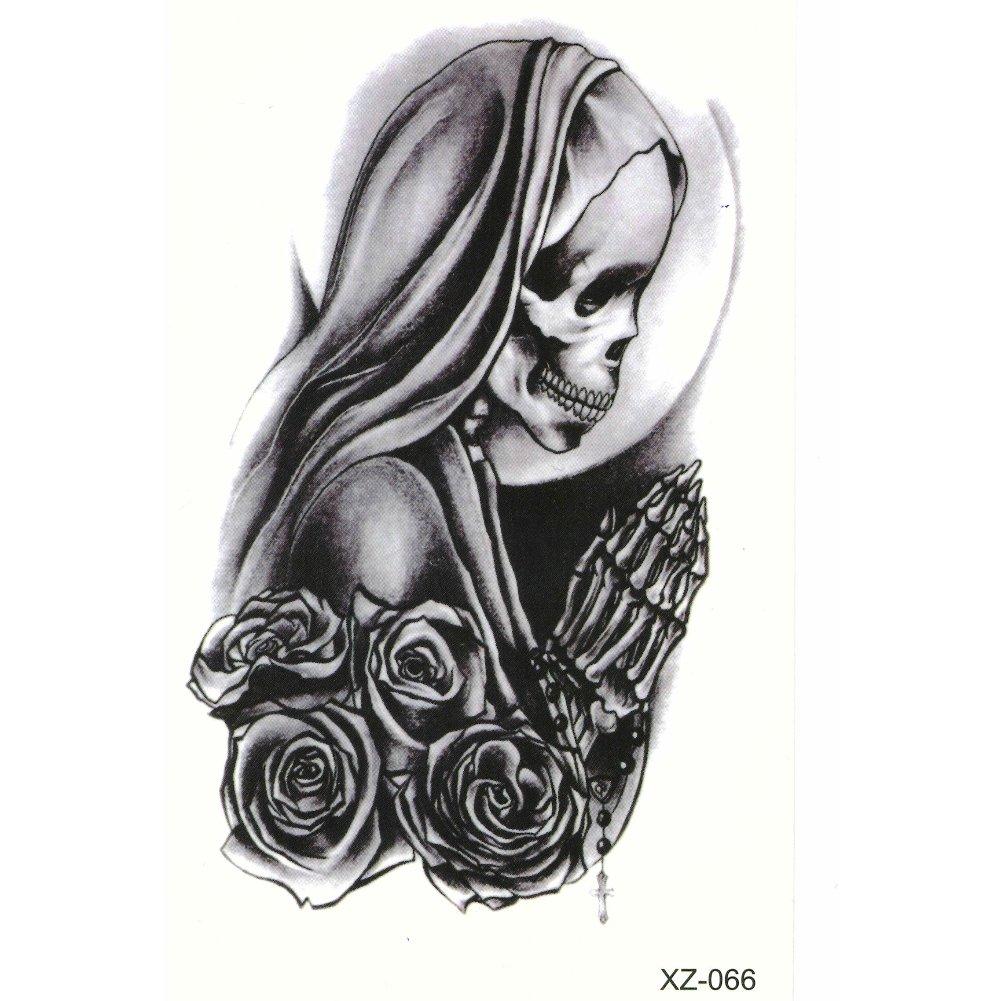JUSTFOX - Tattoo Nail Art La Catrina Day of the Dead Dia de Muertos ...