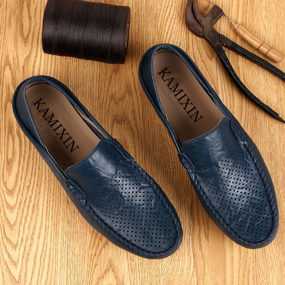 Unitysow Mocasines Hombres Zapatos de Vestir Casuales Holgazanes Slip On Verano Plano Cuero Zapatos de Conducci/ón Zapatillas