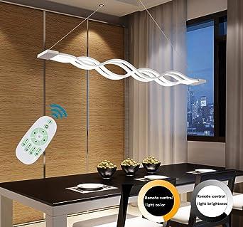 Moderne Welle LED-Pendelleuchte Deckenleuchter Licht-LED hängende ...