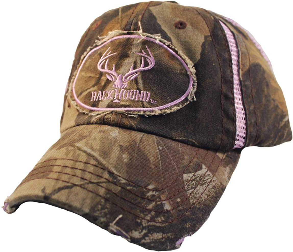RackHound Embroidered Ladies Realtree Hardwoods Camo Cap with Mesh Inserts