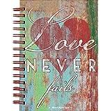 Love Never Fails Heart 6 x 8 Inch Lined Spiral Bound Journal