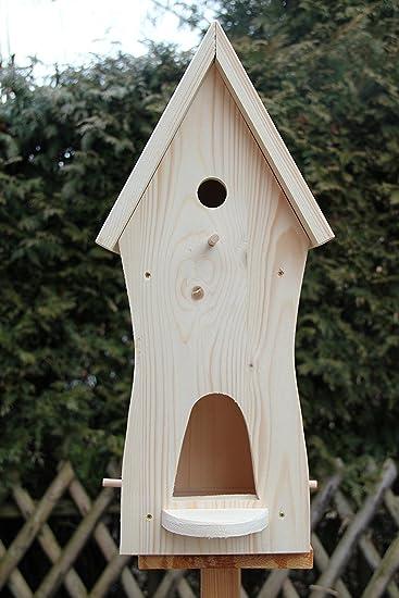 Holzbau Fuchs Nistkasten,(N3 Ganz) Vogelhaus, Futterhaus, Vogelfutterhaus