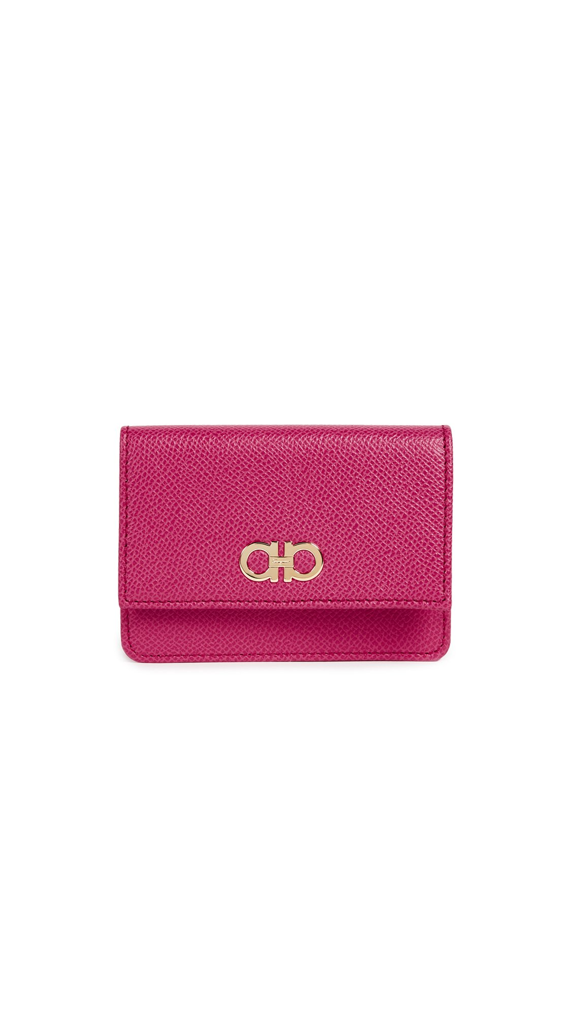 Salvatore Ferragamo Women's Gancini Card Case, Begonia, One Size