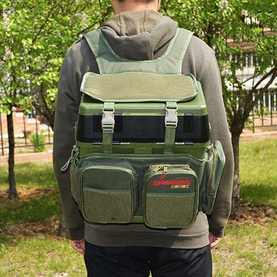 Amazon.com   Fishing pack Fishing Tackle Bag Backpack fish bag outdoors  Anglers Easy Portable Tackle Storage -Nylon(No Fishing box)   Sports    Outdoors dbceba76b8877