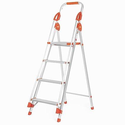 Bathla Sure Step Titanium - 91 cm (3 ft.) Foldable Aluminium Ladder with Support Hand Rails & 5-Year Warranty