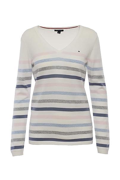 online store 386ae aea28 Tommy Hilfiger Damen Pulli, Gestreift Pullover, Sweater (X ...