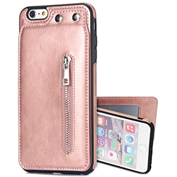 Funda Compatible Iphone 6/6s,KunyFond Carcasa Universal Billetera Case Cuero Abrir Arriba Abajo Colores Leather Wallet Flip Ranura Tarjetas Cartera ...