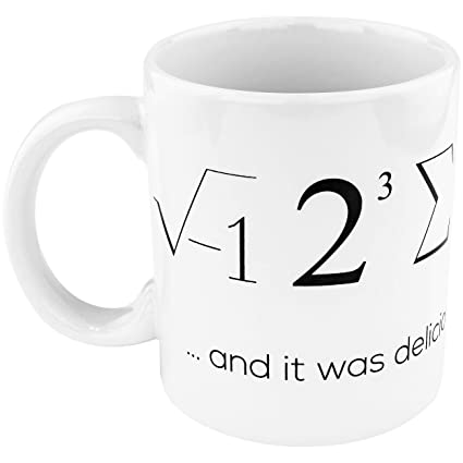 21b5dc718cd Fairly Odd Novelties FON-20024-001-001 Math Nerdy Pi Geek Funny Coffee Mug,  White, 11 ounce,