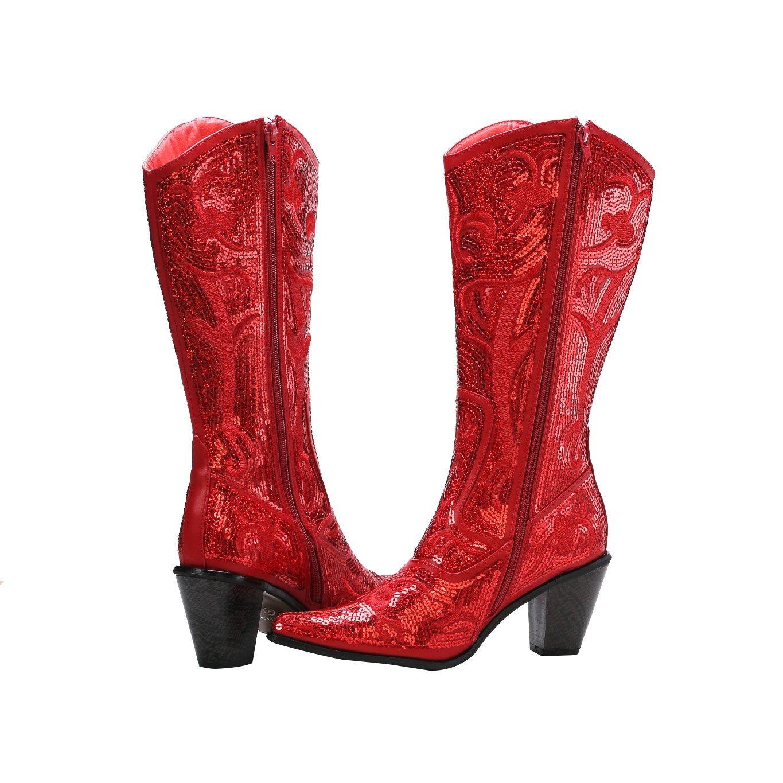 Helens Heart Bling Boots B00MC8EZVS 5 B(M) US Red