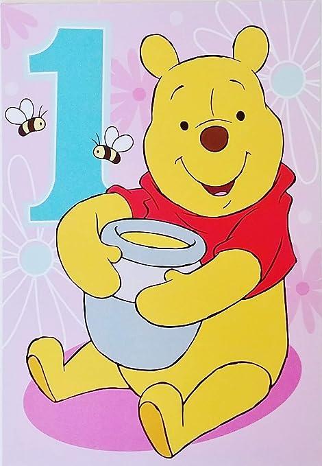 Disney Winnie The Pooh Happy First Birthday American Greetings ...