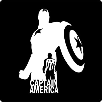 Captain America Wall Graphic Die Cut decal sticker Car Truck Boat Window 6/""