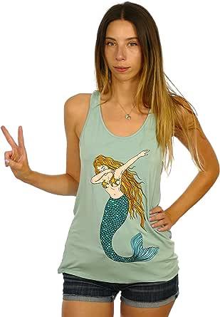 Shop Delfina Mermaid Dab Dance Funny Women's Tank Top