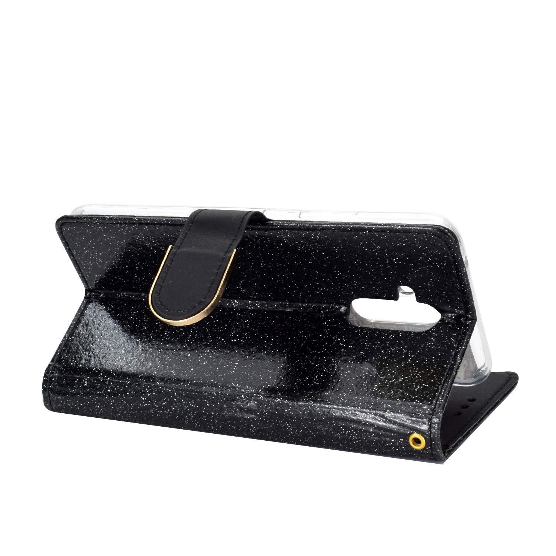 WIWJ Kompatibel mit Huawei Mate 20 Lite H/ülle Glitzer Diamant Magnet Leder Handyh/ülle 360 Grad Wallet Schutzh/ülle Silikon Flip Klapph/ülle Tasche-Gold