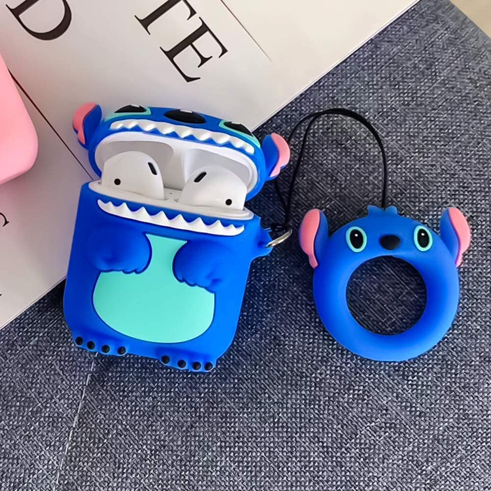3D Cute Cartoon Airpods Cover Accessories Soft Silicone Wireless Charging Headphone Case Shockproof Protective Cover Skin for AirPods 1//2(Stitch) DISNEY COLLECTION Airpods Case