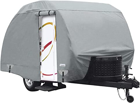 """Poly Pro 3 Teardrop Cover Fits R-Pod Fits up to 18/' 8/"""" Length Trailer"""