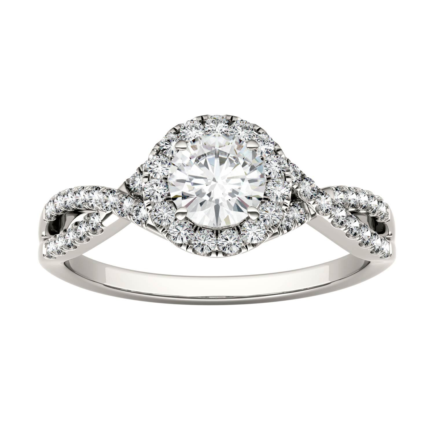 Forever Brilliant Round 5.0mm Moissanite Engagement Ring-size 7, 0.95cttw DEW By Charles & Colvard