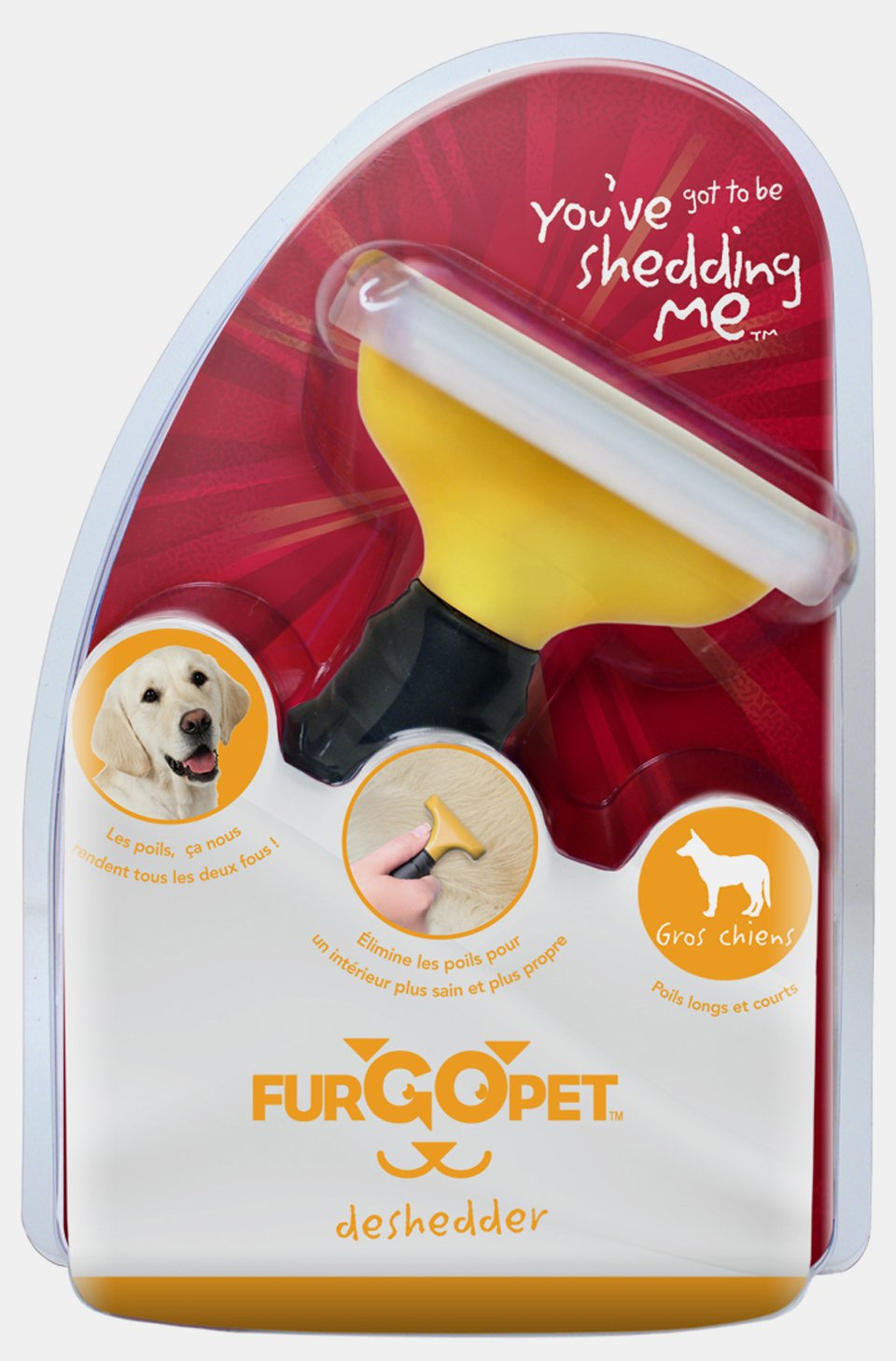 Fur Go Pet 00209 Large Dog FurGoPet Deshedder Tool