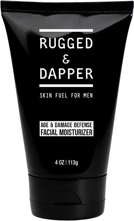 RUGGED & DAPPER Crema hidratante facial de defensa contra daños, loción para deSPués del afeitado para hombres 118 ml