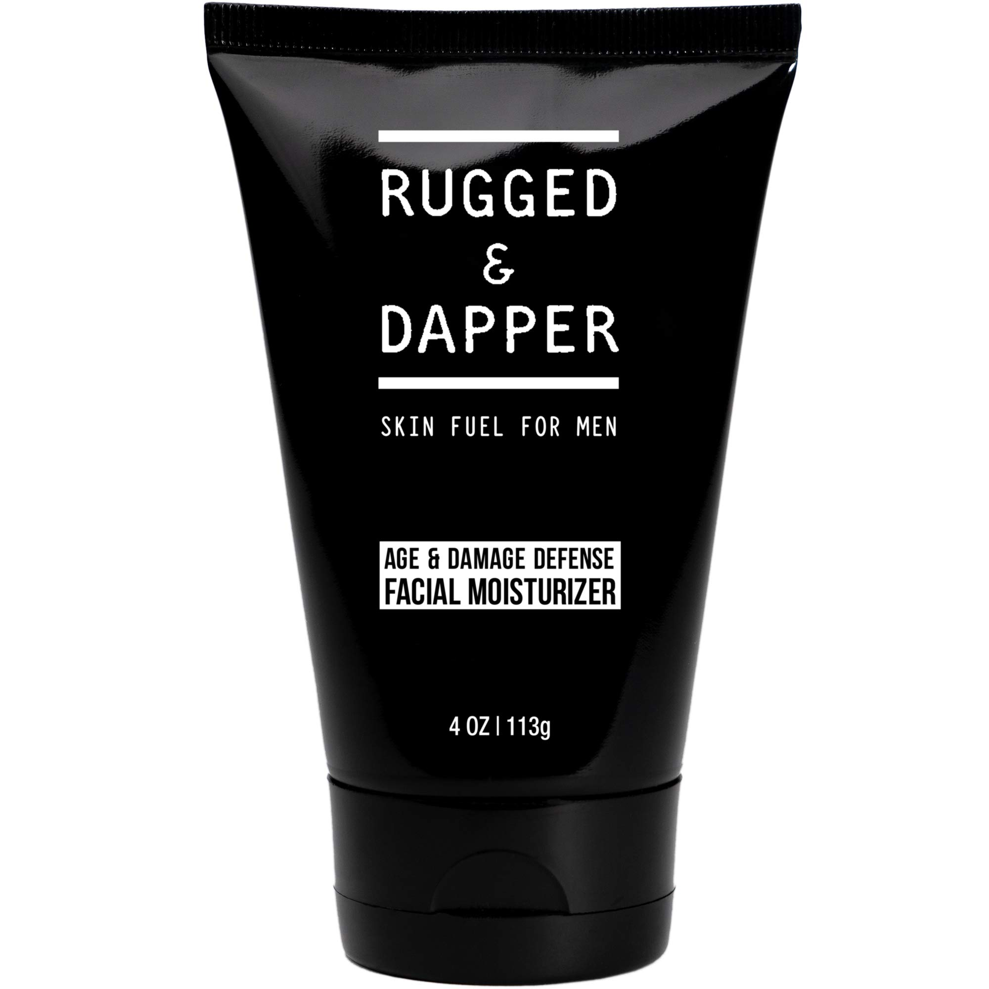 RUGGED & DAPPER Age + Damage Defense Facial Moisturizer | Dual Purpose Non-Toxic Face Lotion & Aftershave for Men - 4 Oz