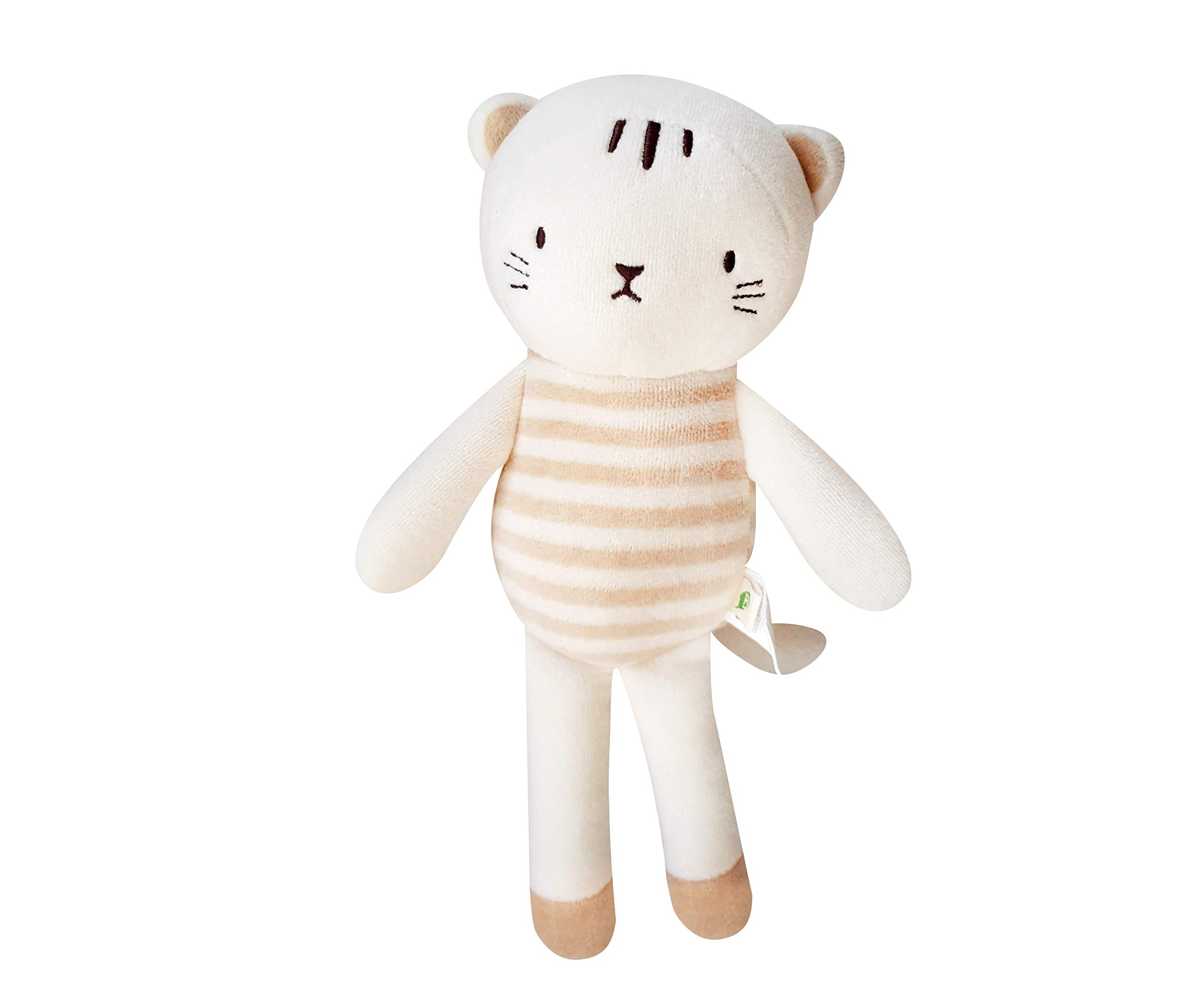 Blessnature] 100% Organic Stuffed Animal, Baby Doll, Tri-Colored Plush Toy (Kitten Lucy)_12in by Blessnature