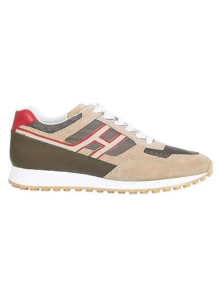 Hogan Hombre HXM4290BD80KW1672S Beige Gamuza Zapatillas: Amazon.es: Zapatos y complementos